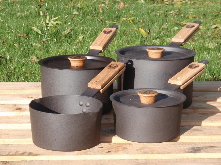 Netherton Foundry 4-teiliges Stieltopf-Set